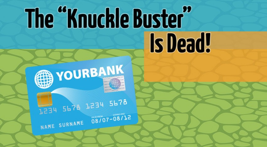 knuckle buster credit card machine
